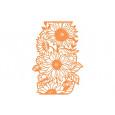Rezalna šablona, Sunflower floral folds