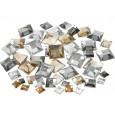 Dekorativni kamenčki, srebrno zlati kvadrati