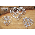 Izrezek, chipboard, Tatting Christmas - Small Hearts