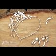 Izrezek, chipboard, Mistletoe, Heart Frame