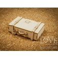 Izrezek, chipboard, Vintage Trip, 3D kovček