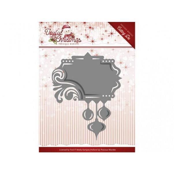 Rezalna šablona, Joyful Christmas, Label ornament