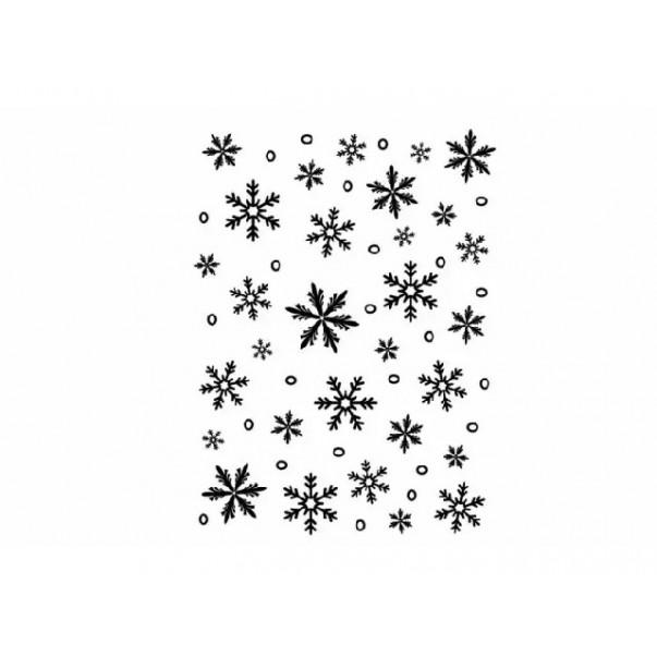 Mapa za embosiranje, Snowflake background