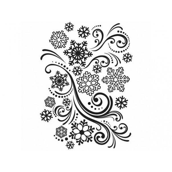 Mapa za embosiranje, Snowflake swirl