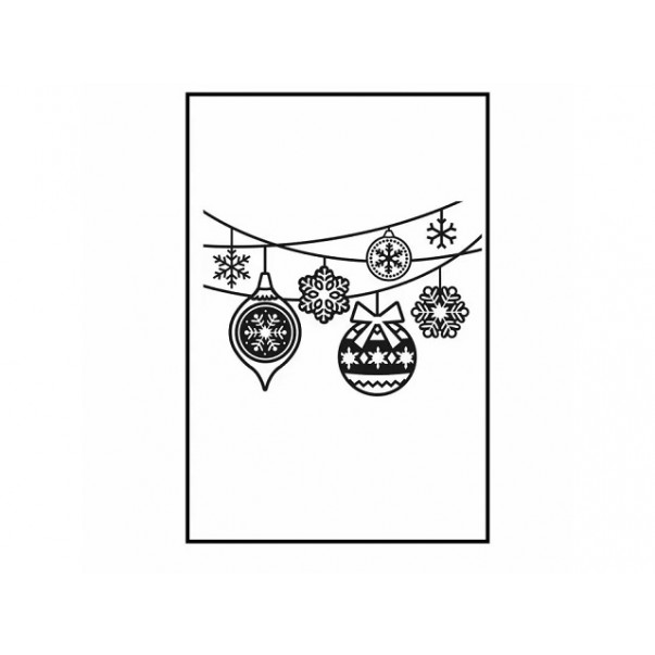 Mapa za embosiranje, Hanging ornaments