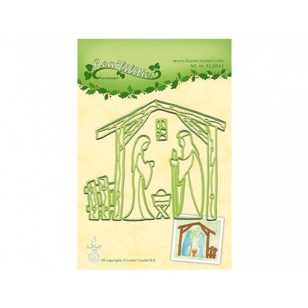 Rezalna šablona, Nativity scene
