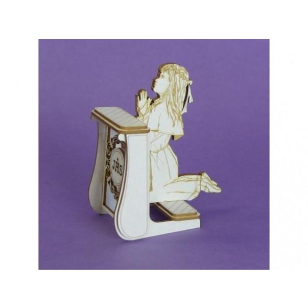 Izrezki, 3D, Dekle na klečalniku
