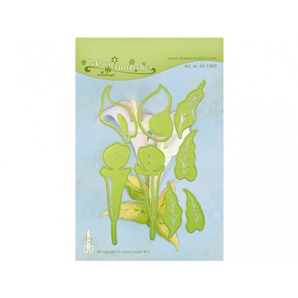 Rezalna šablona, Multi flower 10, Calla