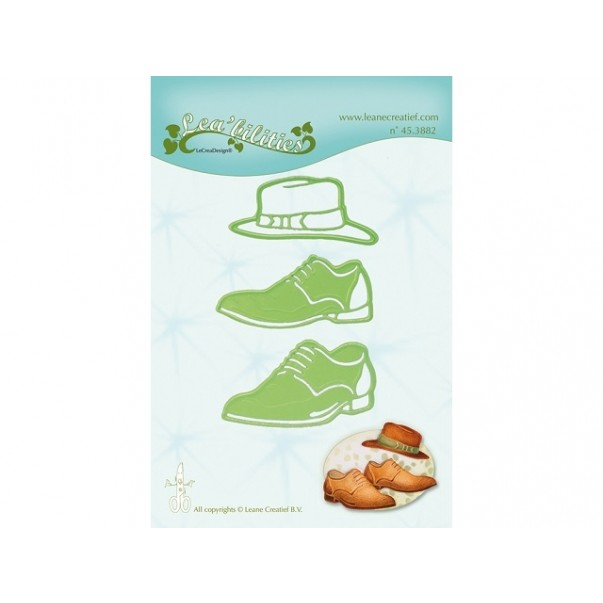 Rezalna šablona, Men shoes and hat