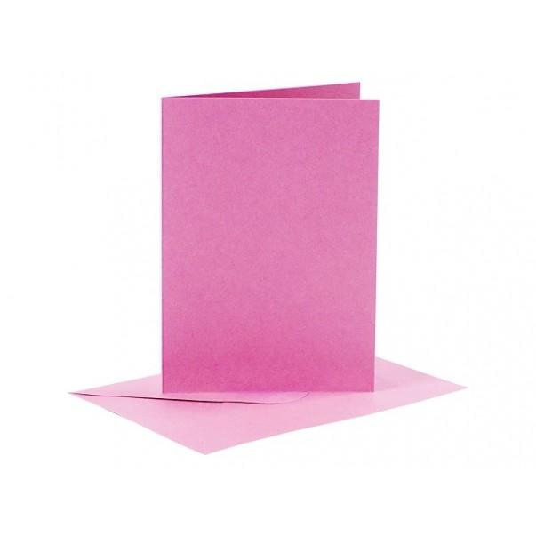 Set osnov in kuvert, C6, pink