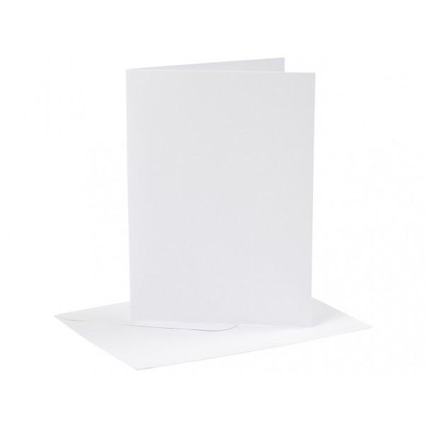 "Set osnov in kuvert, white, 5"" x 7"""