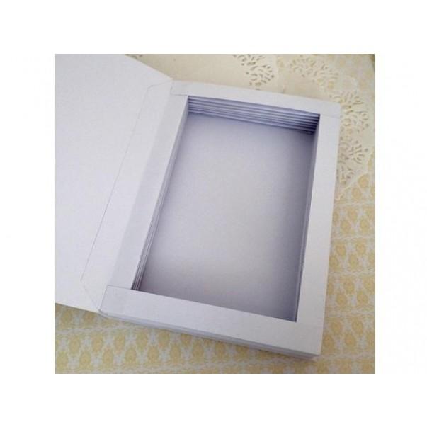 Osnova za škatlico presenečenja, knjiga, bela