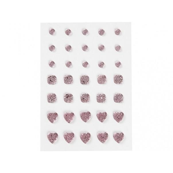 Samolepilni kristalčki, svetlo roza