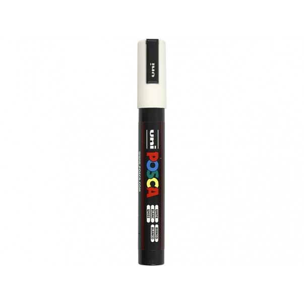 Marker, Uni Posca, medium, bel