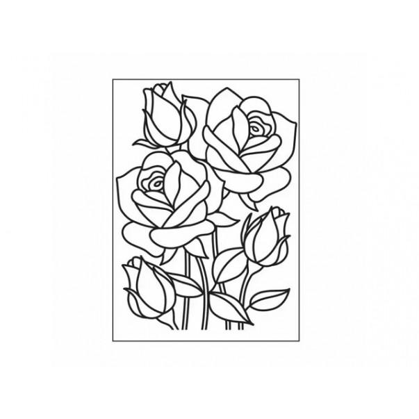 Mapa za embosiranje, Mosaic Rose