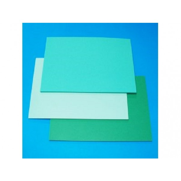 Papir, 3 zeleni odtenki, A5