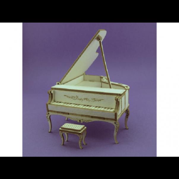 Izrezki, 3D, Klavir