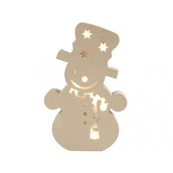 Figura z lučkami, snežak