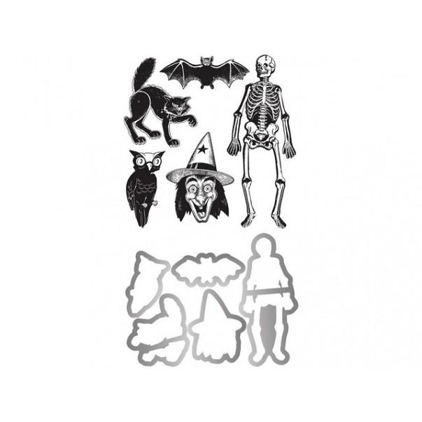 Rezalna šablona in štampiljka, Retro Halloween