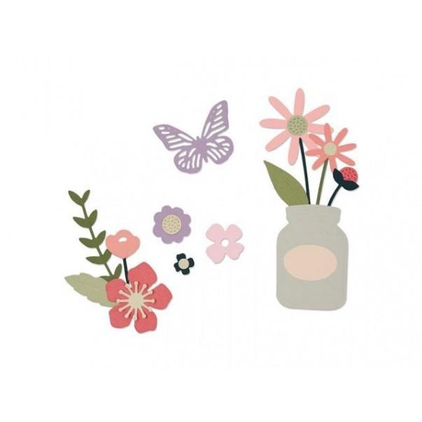 Rezalna šablona, Garden florals