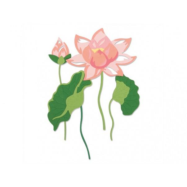 Rezalna šablona, Layered Water Flower