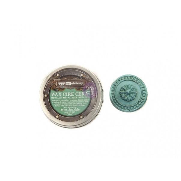 Vosek, Metallique Wax, Art Alchemy, Mint Sparkle