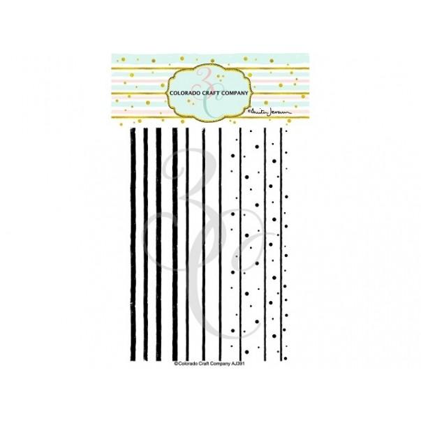 Štampiljka, Stripes & Dots Background