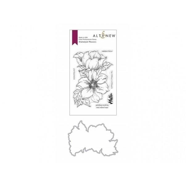 Rezalna šablona in štampiljka, Statement Flowers