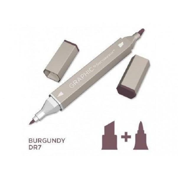 Marker Graphic, Burgundy