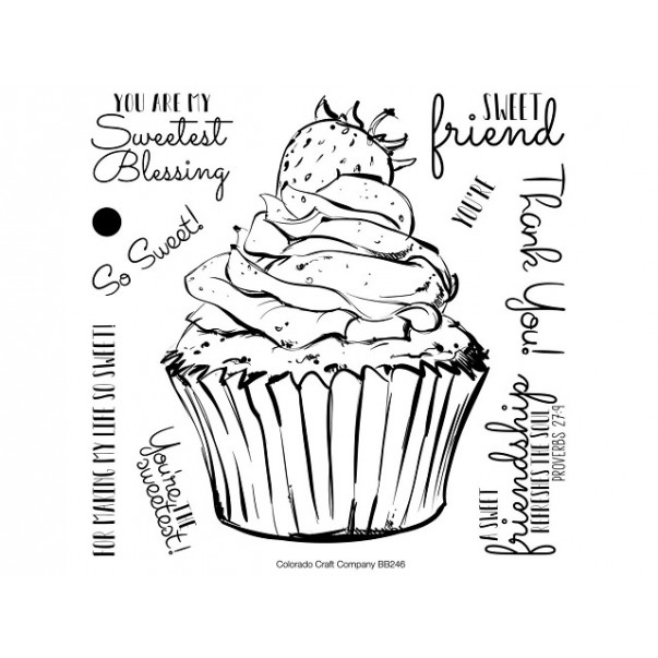 Štampiljka, Big & Bold, Sweet Friend Cupcake