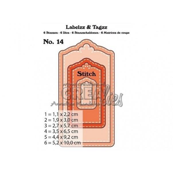Rezalna šablona, Labels & Tags, št. 14