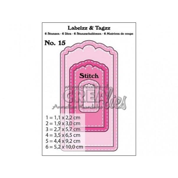 Rezalna šablona, Labels & Tags, št. 15