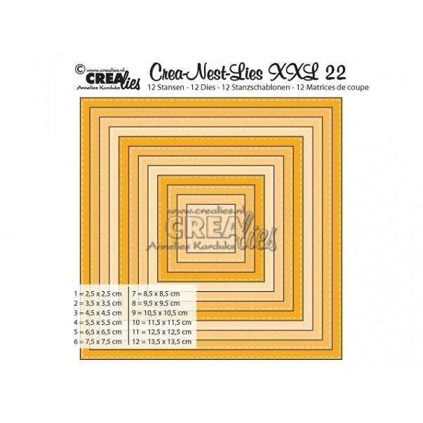 Rezalna šablona, Crea-Nest-Lies XXL, št. 22