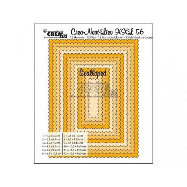 Rezalna šablona, Crea-Nest-Lies XXL, št. 56