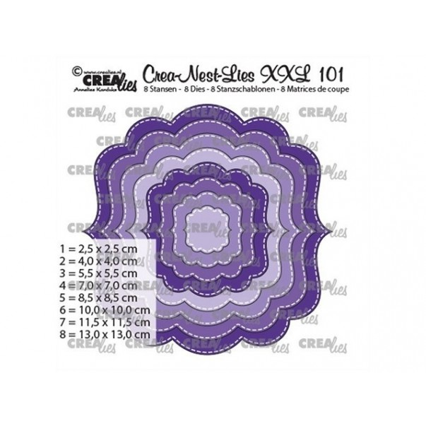 Rezalna šablona, Crea-Nest-Lies XXL, št. 101
