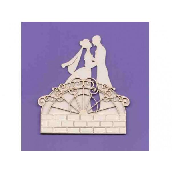 Izrezki, 2D, Poročni par na mostu