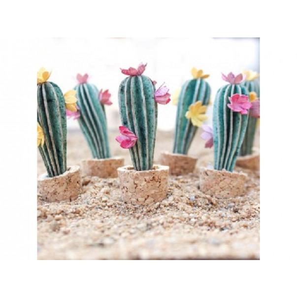 Papirnate rože, mini kaktusi