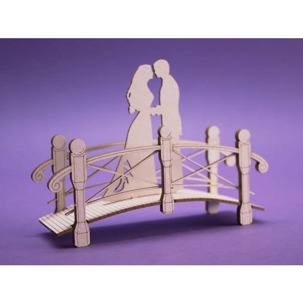 Izrezki, 3D, Poročni par na mostu