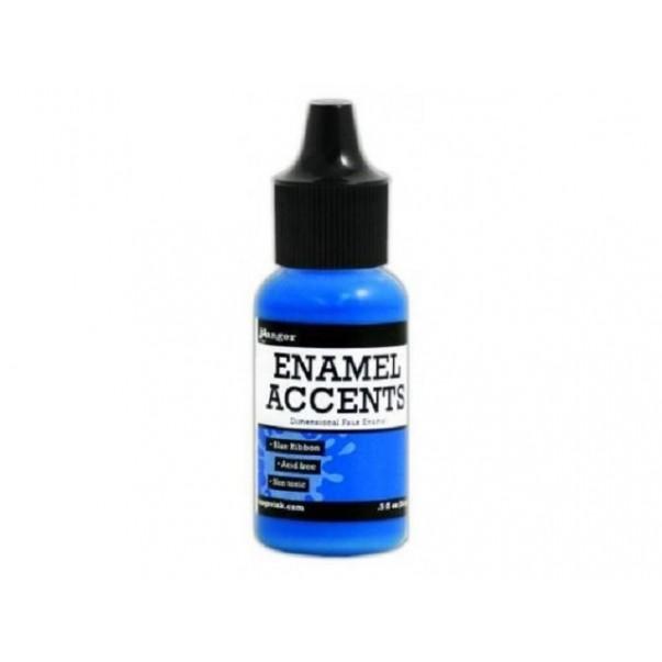 Enamel accents, Blue ribbon
