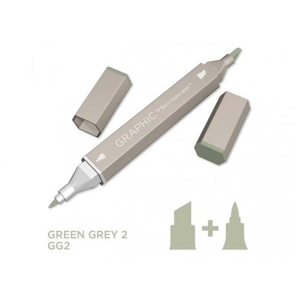 Marker Graphic, Green grey 2
