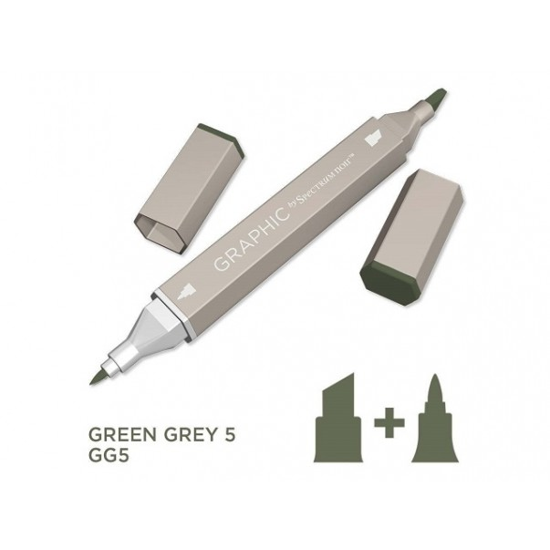 Marker Graphic, Green grey 5