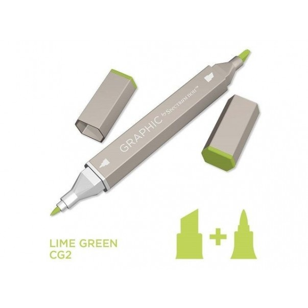 Marker Graphic, Lime green