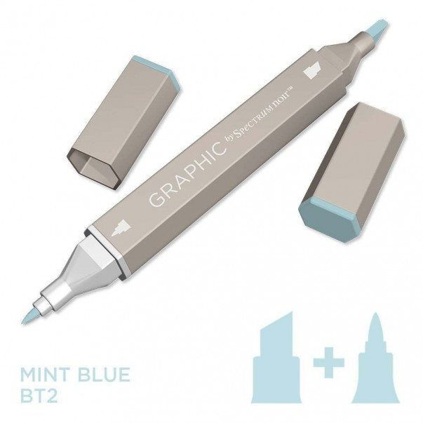 Marker Graphic, Mint blue