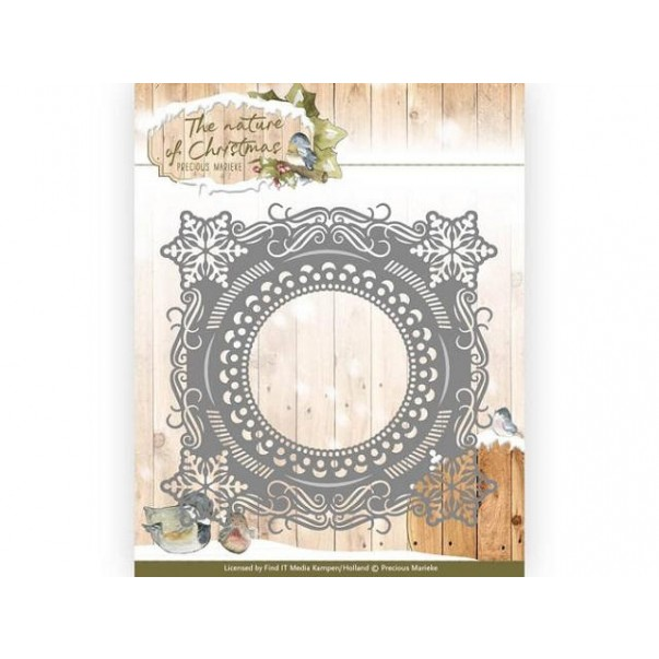 Rezalna šablona, The Nature of Christmas, Christmas Snowflake Frame