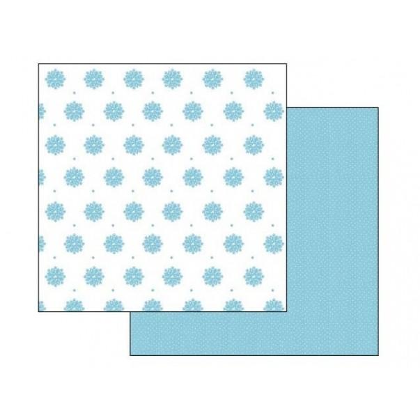 Papir, Light Blue Snow Flocks