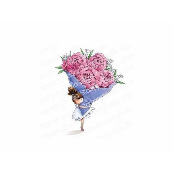 Štampiljka, Teeny Tiny Townie With A Bouquet
