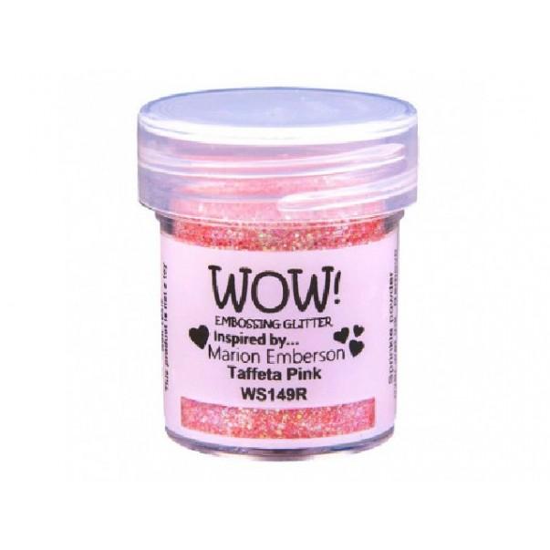 Embossing prah, glitter, Taffeta Pink