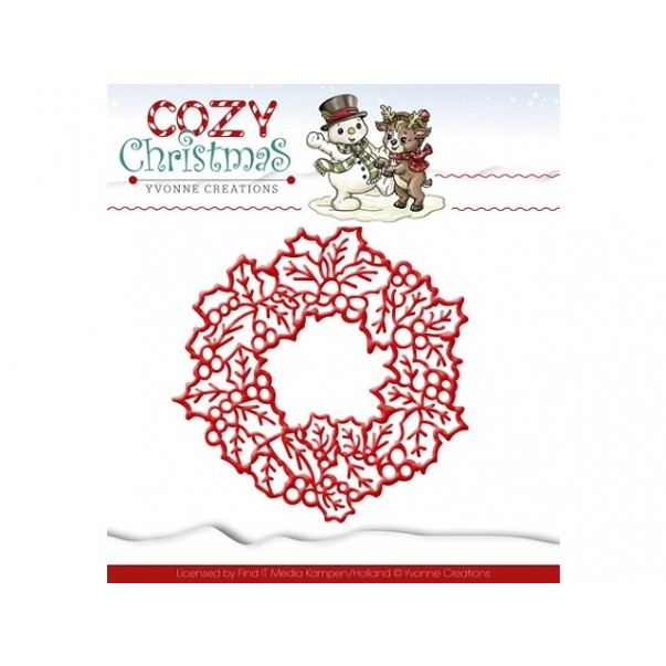 Rezalna šablona, Cozy Christmas, wreath