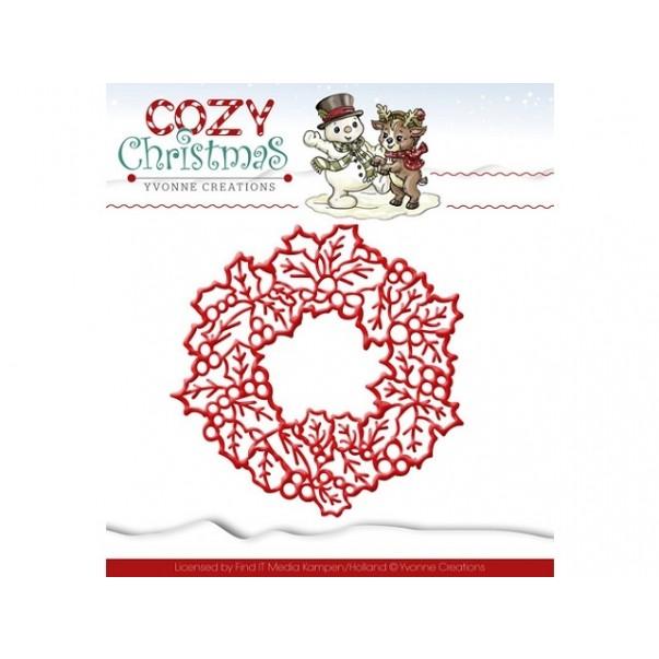 Rezalna šablona, Cozy Christmas, wreath
