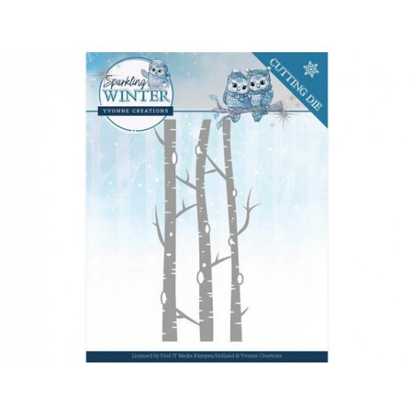 Rezalna šablona, Sparkling Winter, Birch Trees